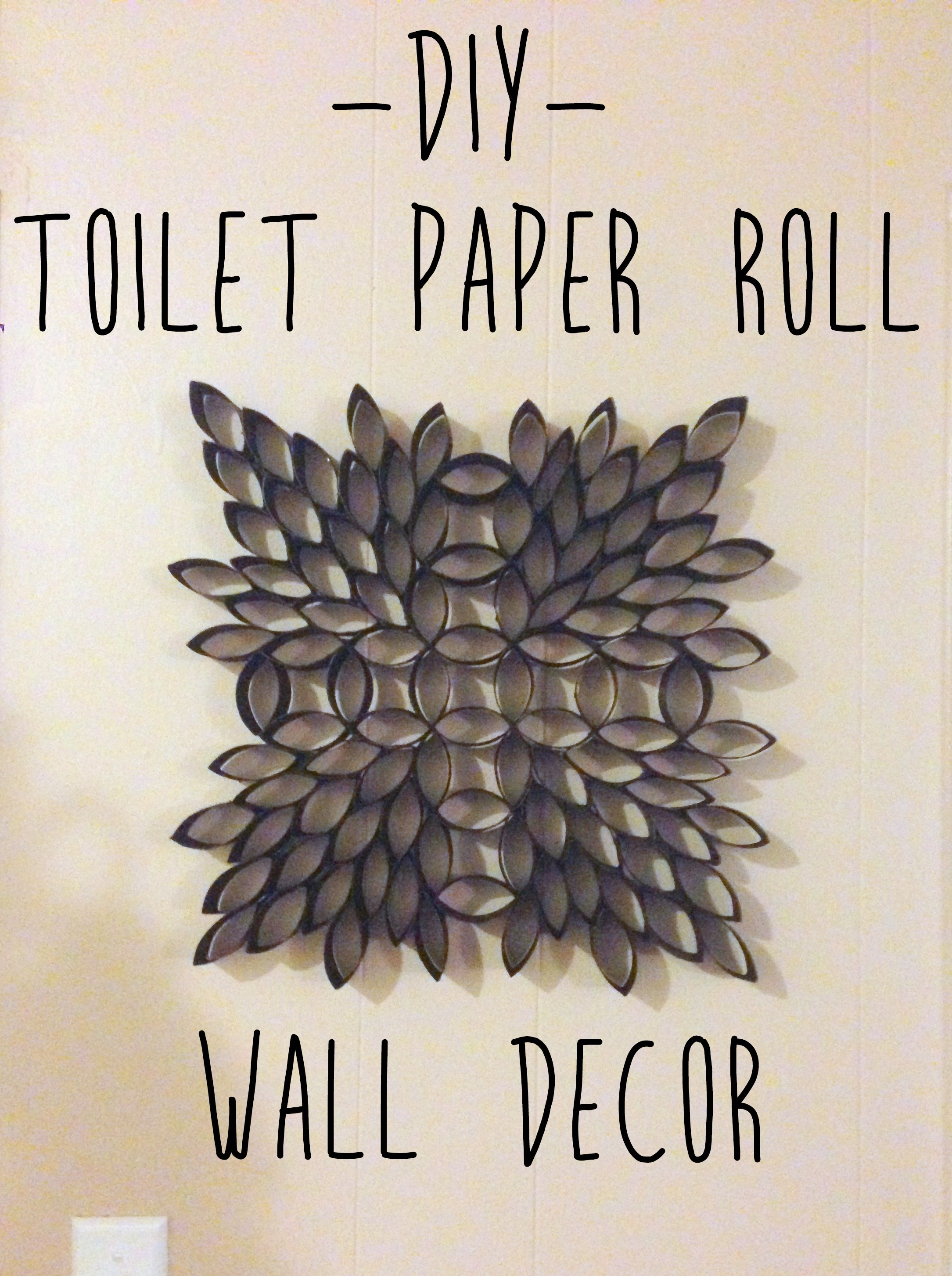 Making Wall Art Out Of Toilet Paper Rolls Something To Chiu On